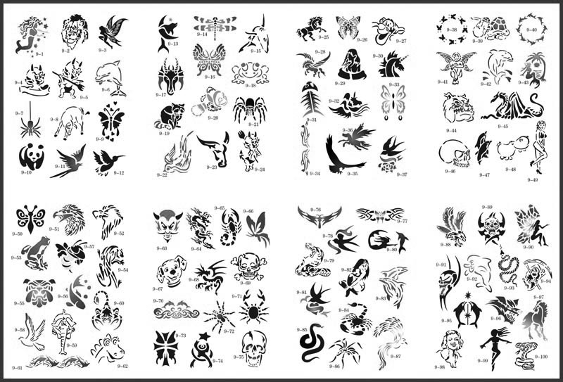Airbrush Temporary Tattoos