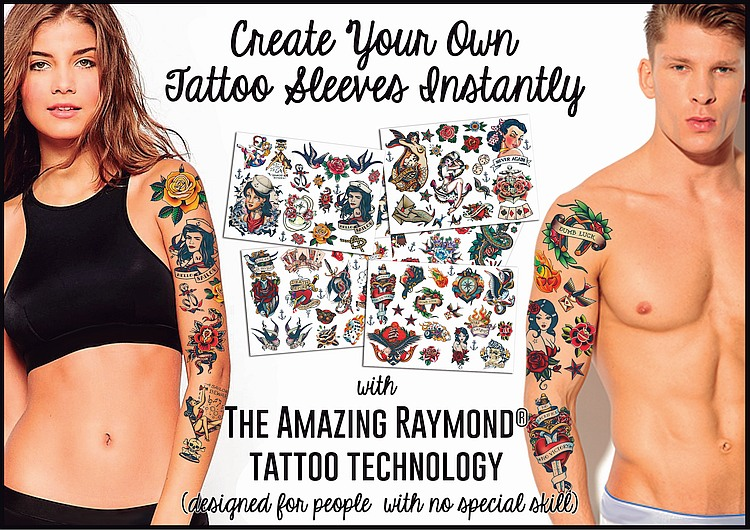 Create Your Own Tattoo Sleeves Instantly with Amazing Raymond Tattoo Technology