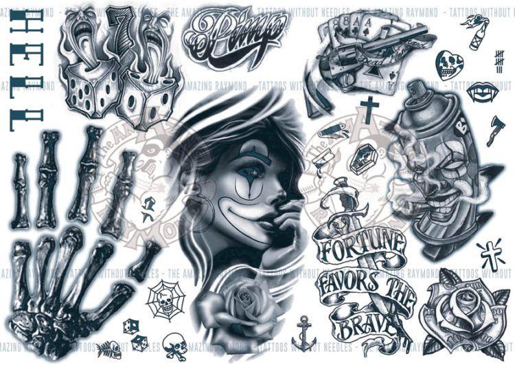Gangster Street Art Tattoo Designs