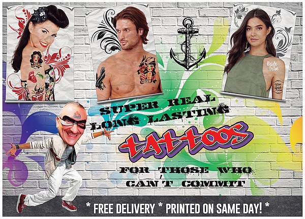 Amazing Raymond Temporary Tattoos
