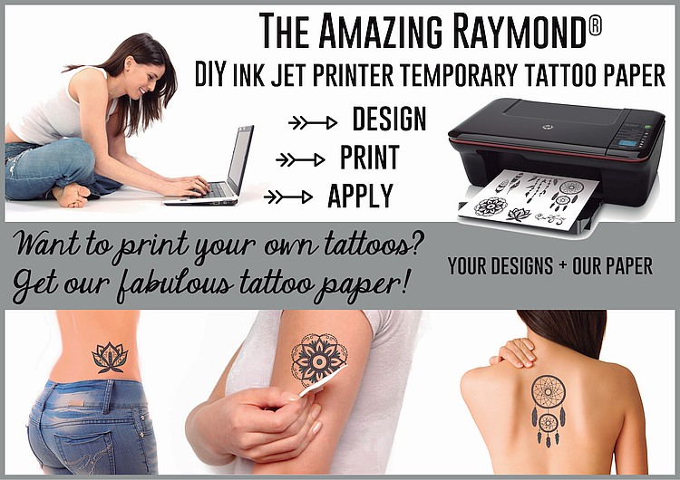 inkjet tattoo paper Make temporary tattoos with our temporary tattoo paper fun for kids  simply  print designs onto this unique paper with an inkjet printer then, with the.
