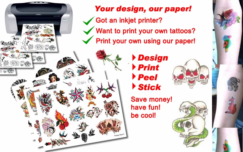 image regarding Printable Tattoos Paper called Our Do it yourself Tattoo Paper in opposition to $8.50 Short-term Tattoos within