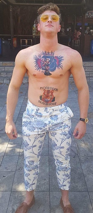 Jake Best Dress with Conor STyle Tattoos from Amaizng Raymond Tattoos