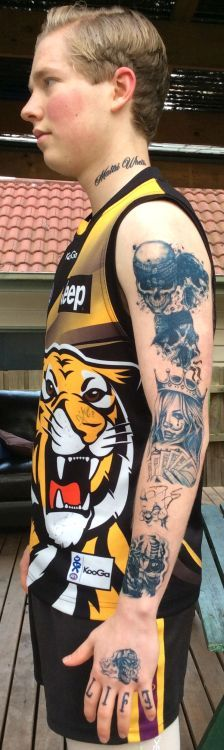 Dustin Martin Inspired Temporary Tattoos