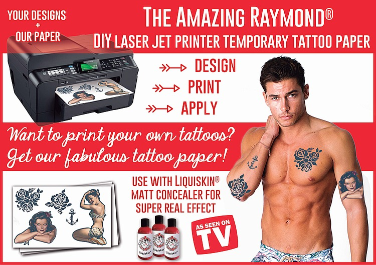 Temporary Tattoos Australia Laser Jet DIY Tattoo Paper Amazing Raymond Temporary Tattoos