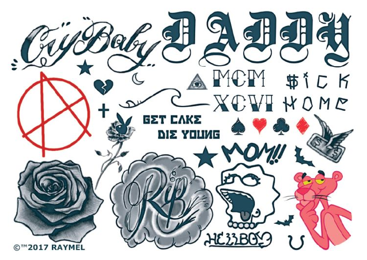 Lil Peep Rose Tatoo Hand: Flash Tatts Temporary Tattoo Guru Australia Amazing