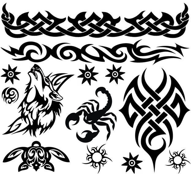 Temporary Tattoos Black Blue Old School Amazing Raymond The Guru