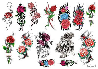Roses Temporary Tattoos