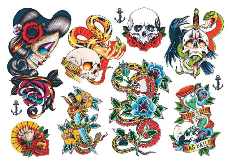 Temporary tattoos rockabilly tattoos try before you commit - Mobeltattoo vintage ...