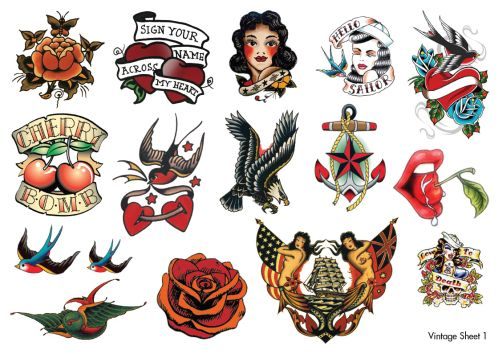 temporary tattoos rockabilly tattoos try before you commit