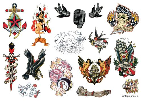 Amy winehouse temporary tattoos rockabilly and vintage fake temporary tattoos forget the rest - Mobeltattoo vintage ...