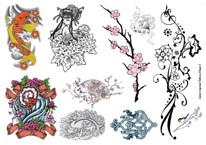 Temporary Tattoos ASian Inspired