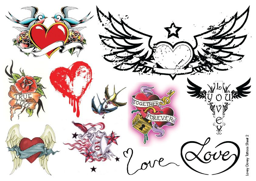 Temporary Tattoos Hearts